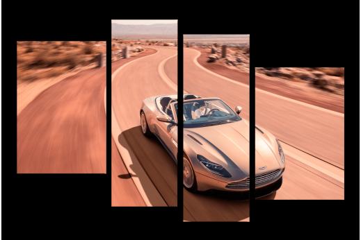 Модульная картина Aston Martin