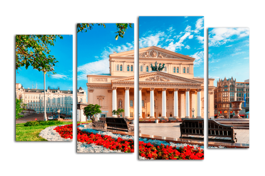 Модульная картина Большой театр в Москве