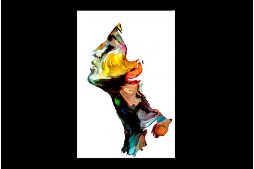Картина  Портрет мазками